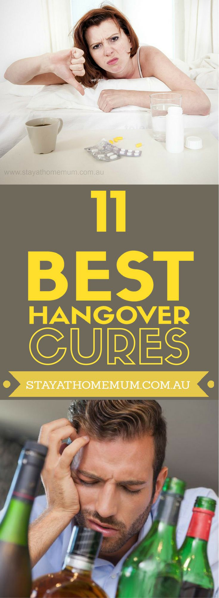 We at SAHM would be very silly if we assumed that all our wonderful fans were tea-totallers and wouldn't touch a drop of the evil liquor. So we'll share with you some of the best hangover cures!