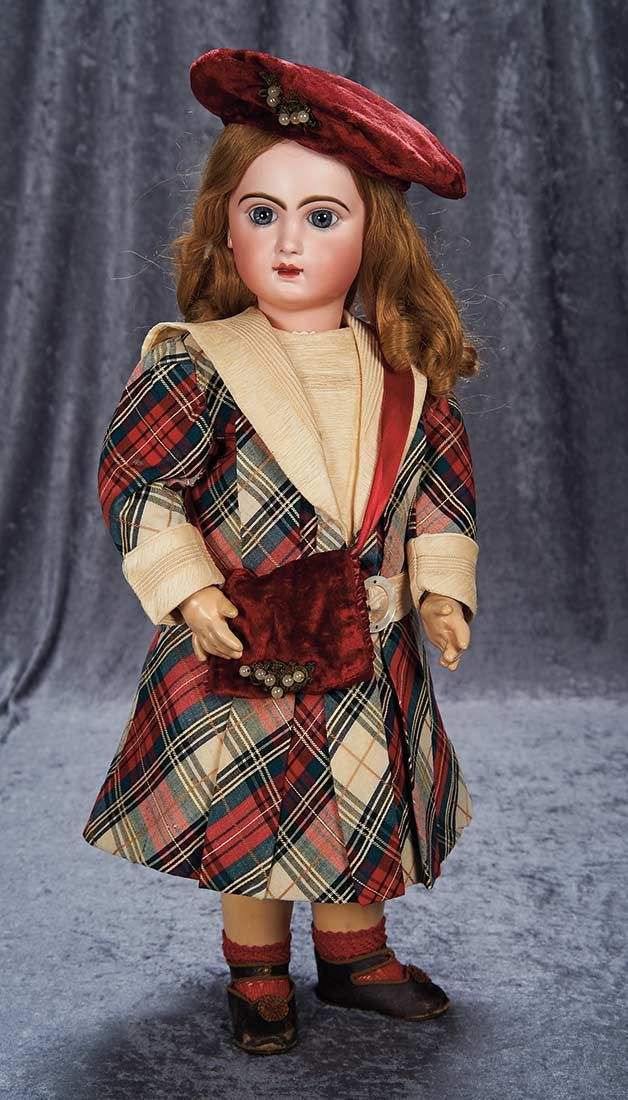 """""""Among Friends, The Billie and Paige Welker Collection"""": Lot # 126: All-Original French Bisque Bebe Jumeau, Size 11, Original Costume, Signed Jumeau Shoes"""