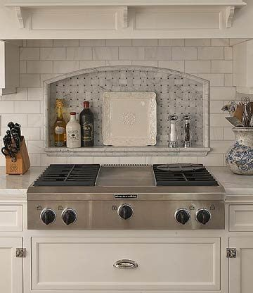 Basketweave Tile Range Backsplash Image via