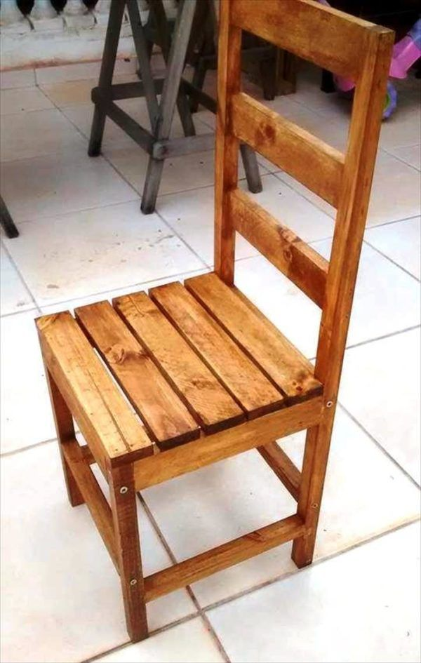 custom art style wooden chair