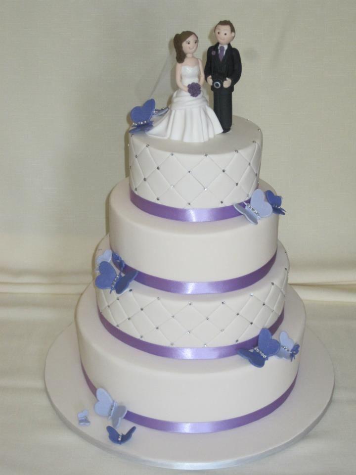 Butterflies and purple wedding theme
