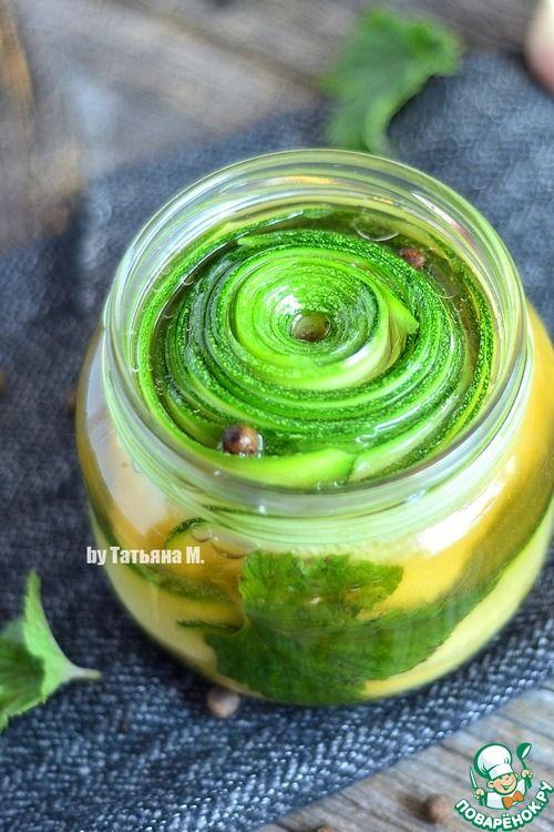 Кабачок, маринованный слайсами - кулинарный рецепт