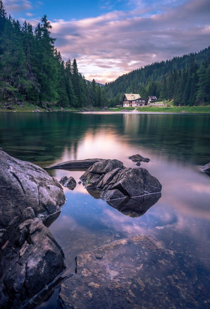 Obernberg lake, Tyrol-Austria