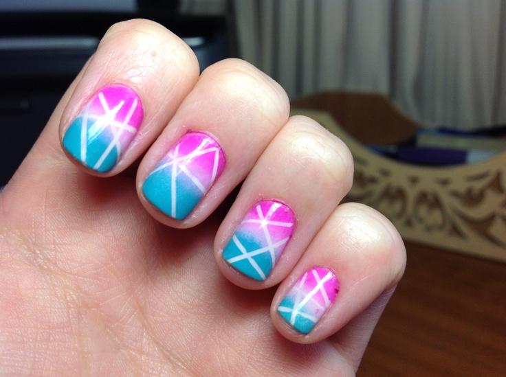 Stripes/gradient #nailart #nails #nailpolish