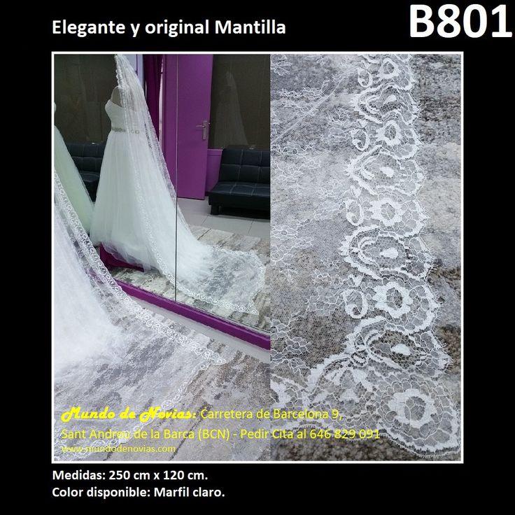 Elegante Mantilla, de la marca Novias Ukraine. Se hacen envíos a toda España y también se pude pedir CITA para venir a probarlo en tienda (WhatsApp 646829091).
