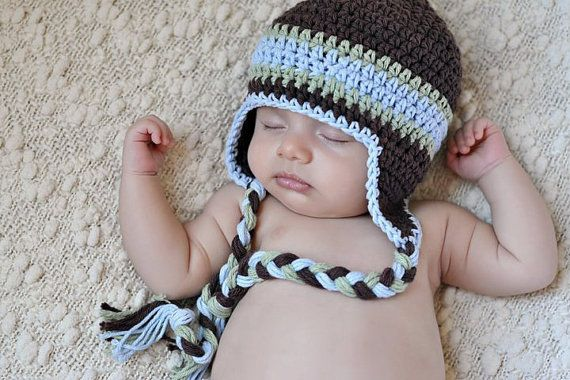 Boys Winter Hat Cotton Crochet