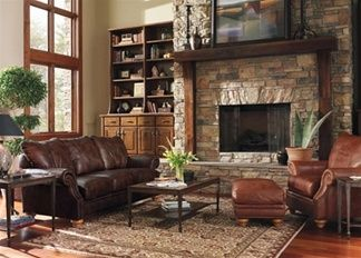 Spokane Leather Sofa By Flexsteel By Town Country Leather Furniture Living Room Pinterest