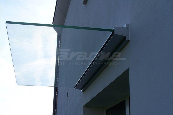 LINEA Marquesina de vidrio by FARAONE diseño Nino Faraone, Roberto Volpe