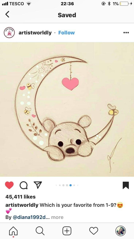 Sketches Image By Noor Saba Disney Art Drawings Cute Disney