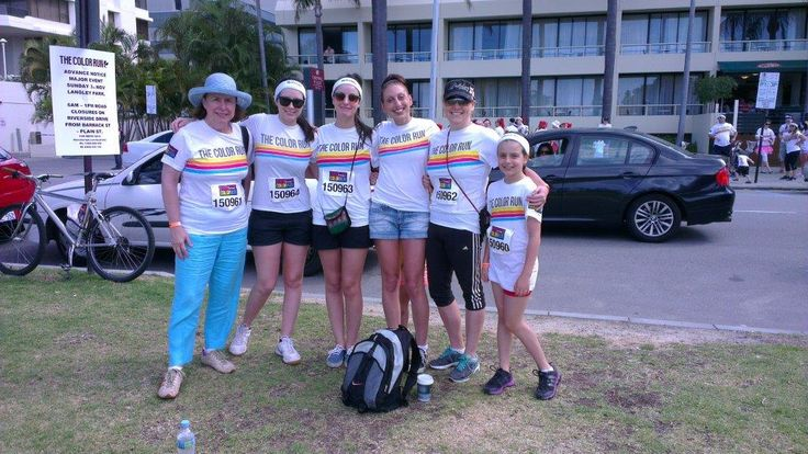 Our consultants before the colour run :)