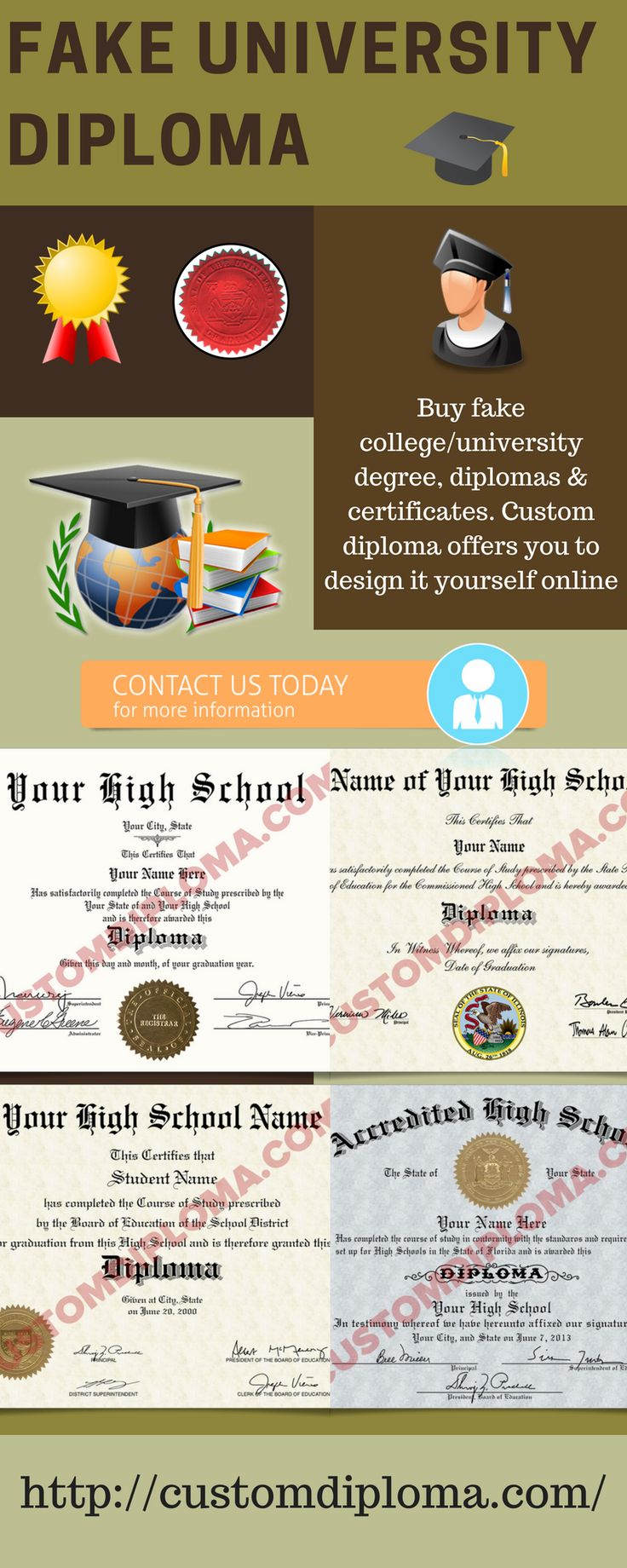Buy fake college university degree diplomas certificates custom diploma offers you to