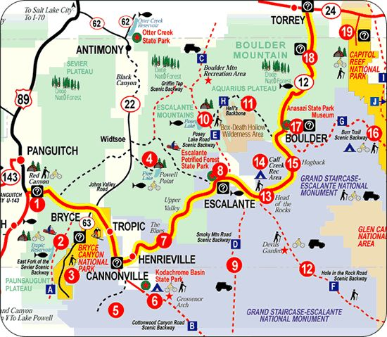 Million Dollar Highway Map | continuing along scenic highway 12 in ...