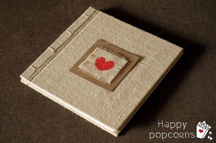 libro de firmas o álbum artesanal de arpillera