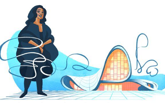 Mengenal Google Doodle hari ini, Zaha Hadid yang merupakan arsitek terkenal akan kontrov.....