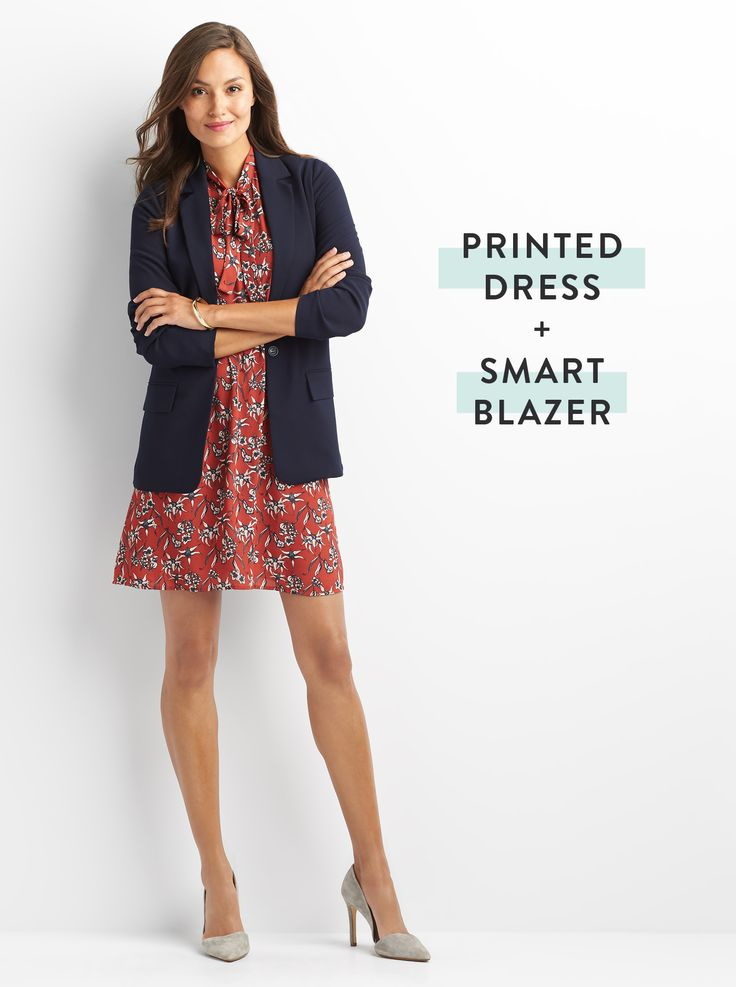 Jaycie: I really like to wear dresses with jackets or cardigan to work. I like this dress (tie at the neckline) but it needs to be longer for my workplace (think more knee-length).