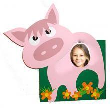 cadre photo grand cochon - Tête à modeler
