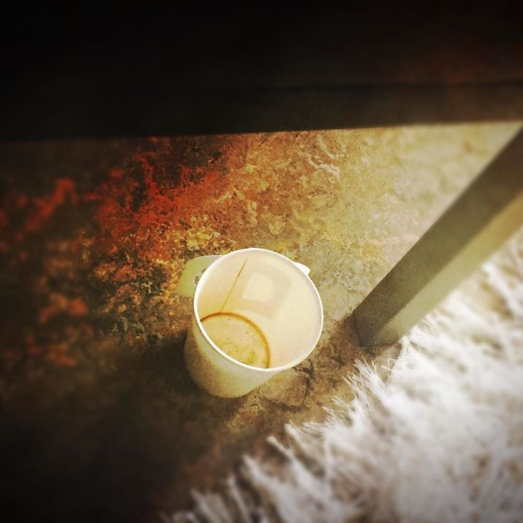 Empty Coffee & a mat #coffee #mat #white #cup