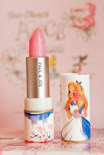alice in wonderland vintage look pale shimmer pink lipstick by paul & joe <3