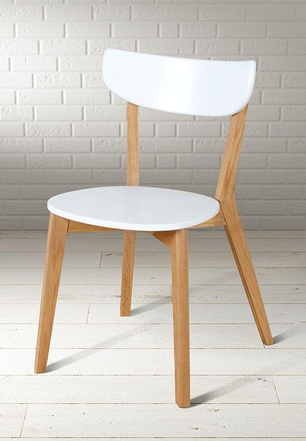 Set of 4 Vegard  scandinavian design chair in white oak