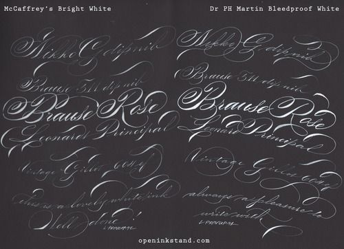 Best White Ink Bleedproof White Calligraphy Tips And