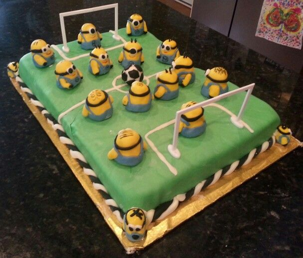 Minions playing Soccer