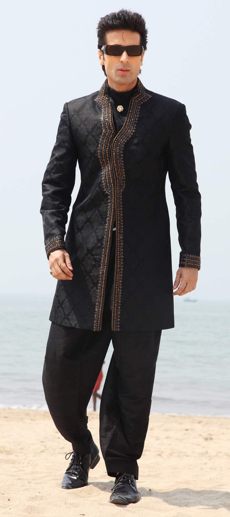 1000+ images about IndoWestern Mens Wear on Pinterest | Manish Smoking jacket and Blue colors