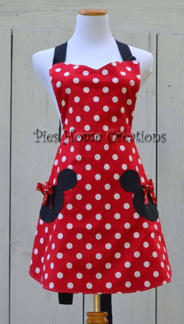 Mouse Apron Womens Full Cooking Apron von pieshomecreations auf Etsy