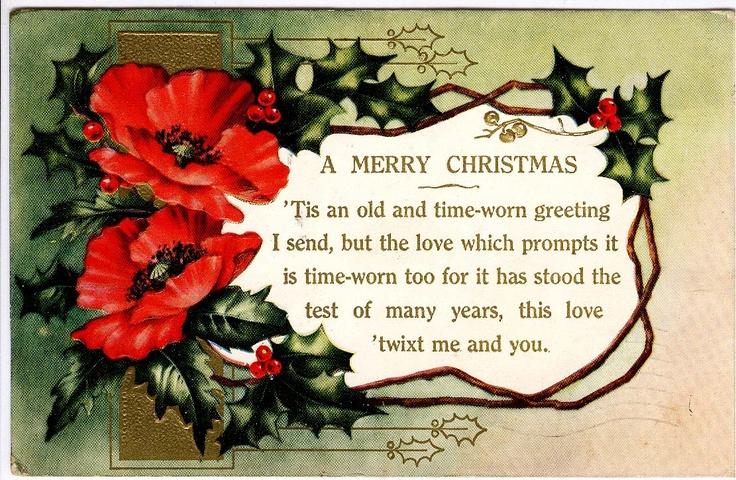 #Christmas #antique #postcard #poppy