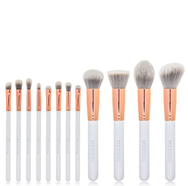 Marbleous 12 Piece Set. White and rose gold make up brushes. Perfect!