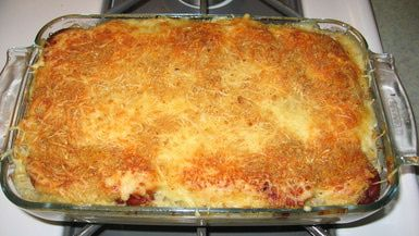 Polish Smigus-Dyngus Day Celebrations: Smigus-Dyngus Casserole hot out of the oven.