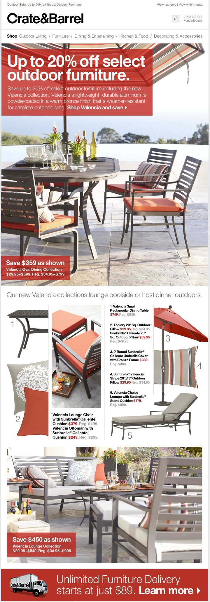 Crate and barrel outdoor furniture sale - Outdoor Sale Up To 20 Off Select Outdoor Furniture