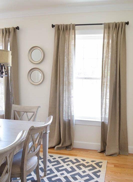 """Set of 4 Burlap Curtains Panels 68"""" x 84"""" on Etsy, $150.00"""