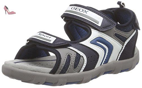 Geox  JR SANDAL PIANETA B, Sandales Bout ouvert garçon - Multicolore - Mehrfarbig (NAVY/AVIOC0700), 24 - Chaussures geox (*Partner-Link)