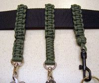 Stormdrane's Blog: Paracord belt key keeper