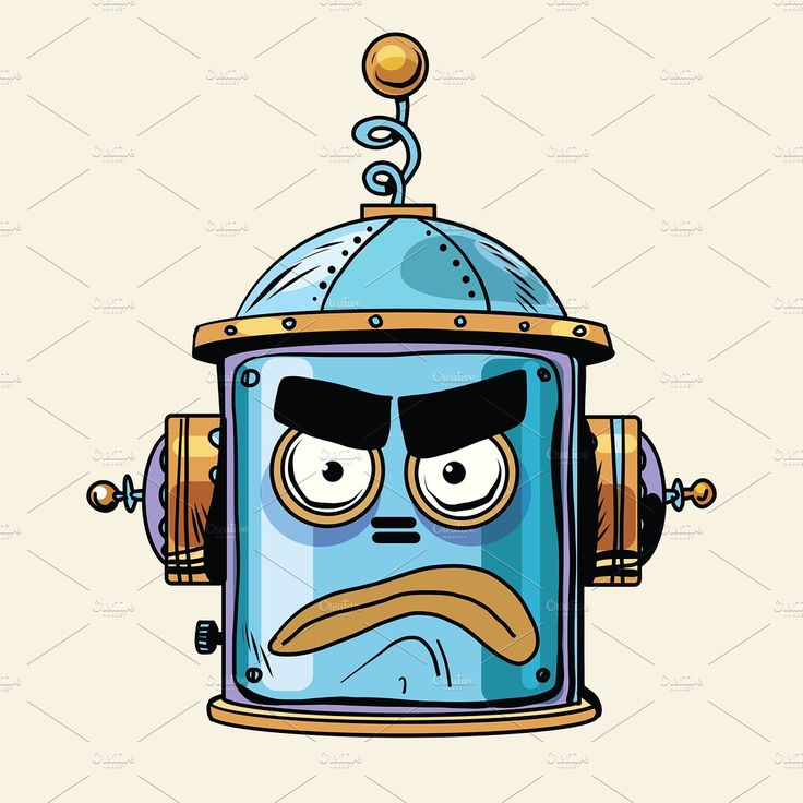 emoticon angry emoji robot by studiostoks on @creativemarket