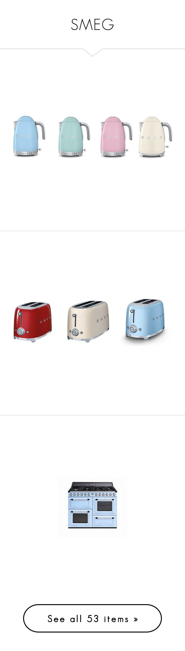 Kitchen small appliances victoria bc -  Smeg By Hayley247 Liked On Polyvore Featuring Home Kitchen Dining Small Appliancestoasterpastel