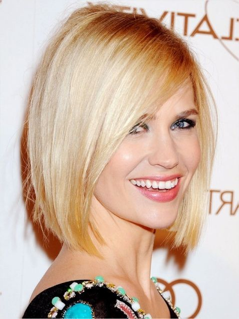 January Jones Blonde Bob Hairstyle