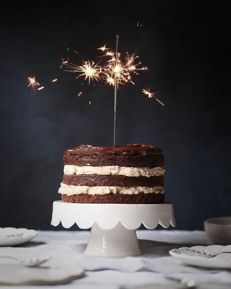Chocolate Cake with Cinnamon Espresso Mascarpone Frosting and Chocolate Ganache | Photography by Salma Sabdia @thepolkadotter on Instagrammer | Recipe from Sweet by Yotam Ottolenghi