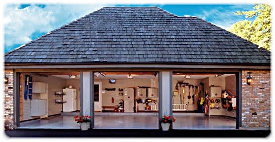 Oversized 3 car garage dimensions 11 two and three for Homes with three car garages
