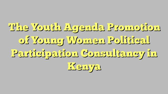 The Youth Agenda Promotion of Young Women Political Participation Consultancy in Kenya