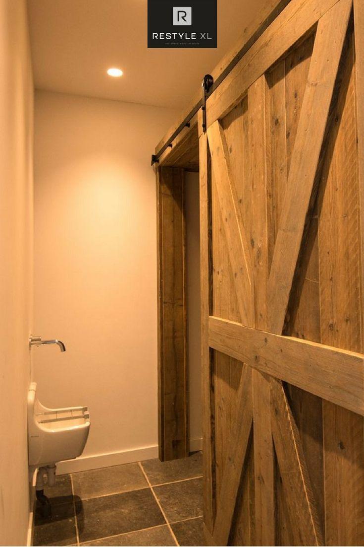 Oud houten schuifdeur #restylexl #interieur #oudhout #hout #houten #schuifdeur #houtenschuifdeur