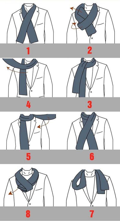 Les 25 meilleures id es de la cat gorie porter une charpe sur pinterest comment porter des - Nouer une echarpe ...