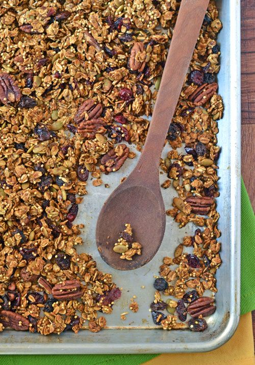 Pumpkin Spice Granola. BEST granola I've ever had, and it's healthy too!