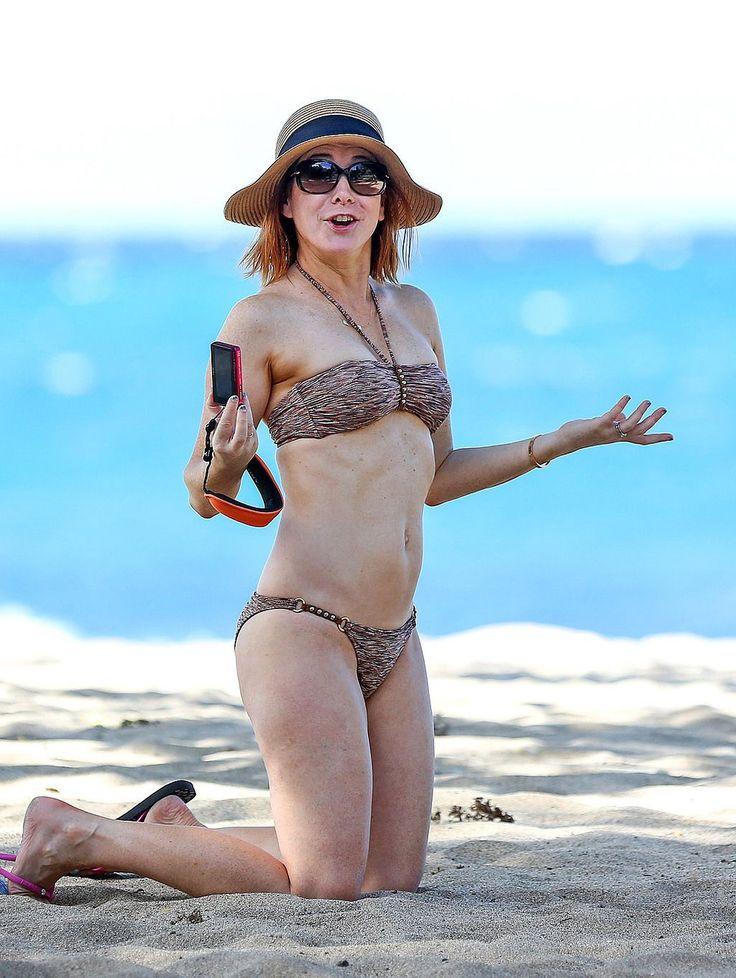 Hot Alyson Hannigan in Bikini at a Beach in Hawaii