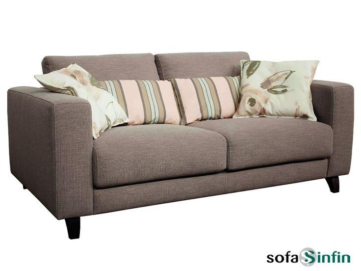 Sofá moderno de 3 y 2 plazas modelo Salvador fabricado por Losbu en Sofassinfin.es