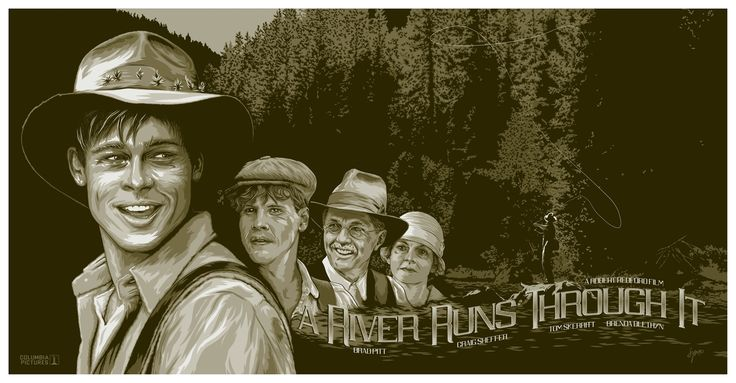 """Alternative movie poster for """"A River Runs Through It"""" by yours truly."""