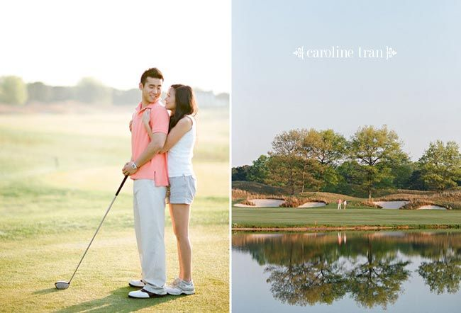 golf engagement photos | susan   jason
