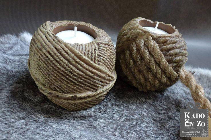Zo STOER en zo GEZELLIG deze super trendy klossen touw waar een lichtje in kan. Zoek je wat aparts dan mag je deze niet missen! Kado en Zo Balk