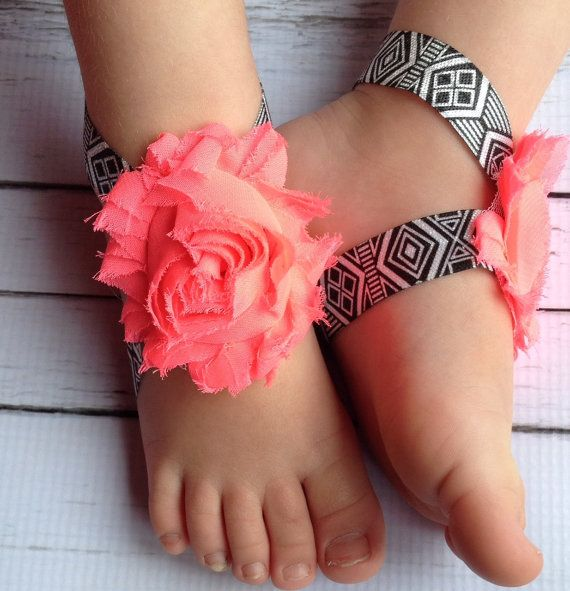 Aztec Baby Barefoot Sandals.Baby Barefoot by TinyTulipBoutique, $6.00