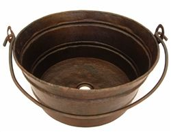 rustic copper vessel sink.. vessel sinks are joining telephone benches in my list of new obsessions!